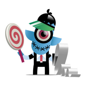 toshl accounting monster with lollipop