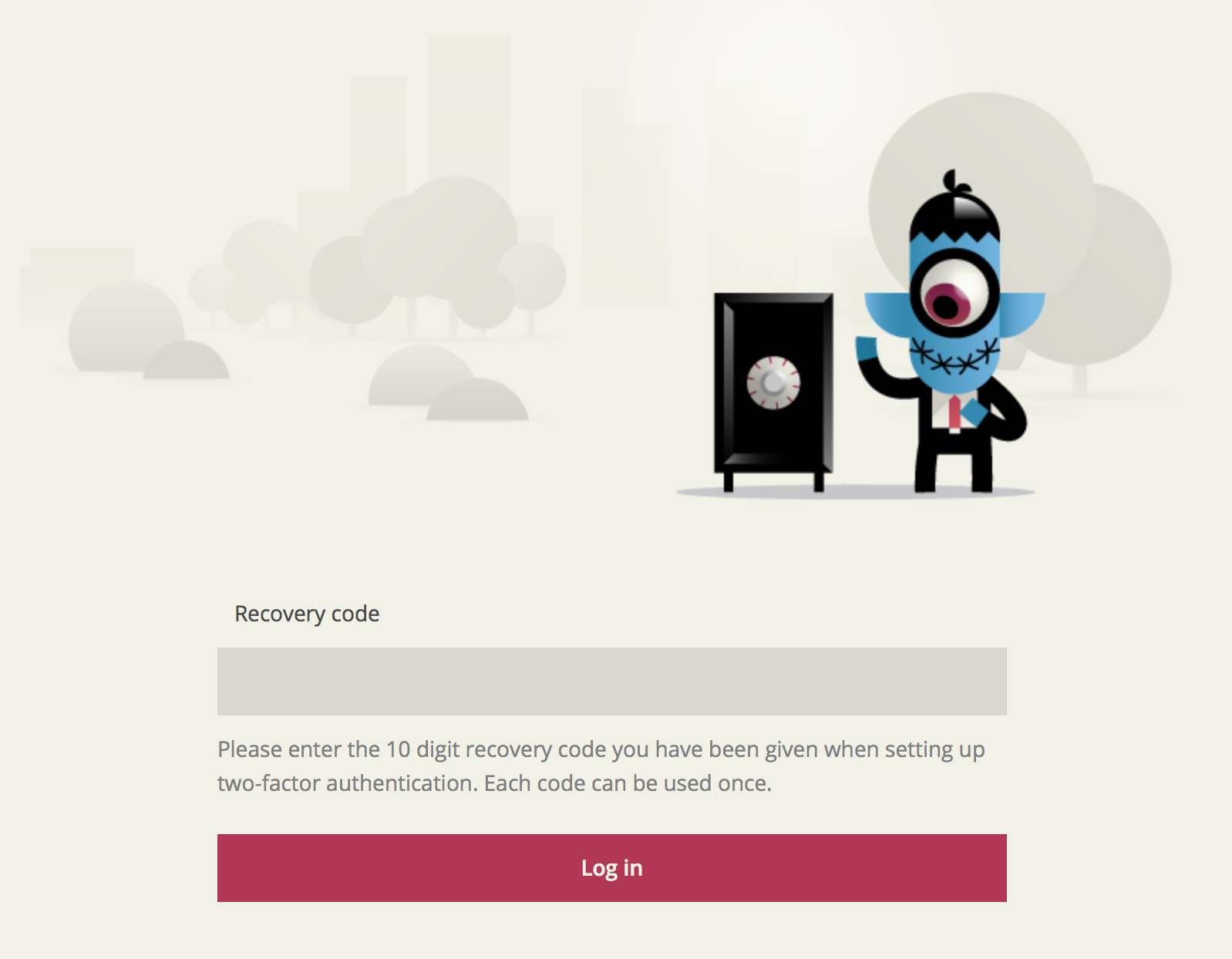 Recover code 2 factor authentication Toshl web app