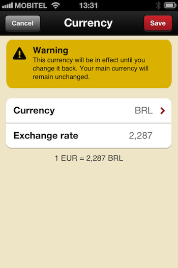 Get an exchange rate automatically